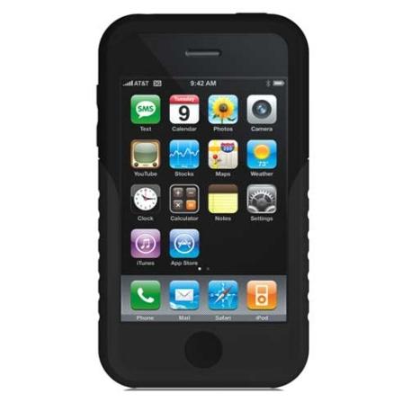Capa Protetora Preta de Silicone para iPhone 3° Geração - Xtreme - IPPTW310, Preto, 12 meses