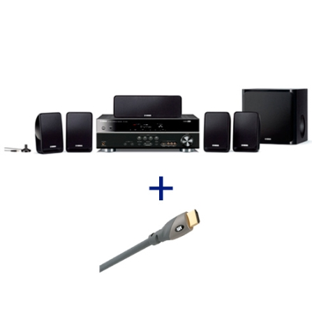 Home Theater Yamaha com 500W + Cabo HDMI Monster