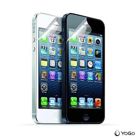 Película Protetora para iPhone 5, 5c e 5s Transparente - Yogo - 501CLR, Não se aplica