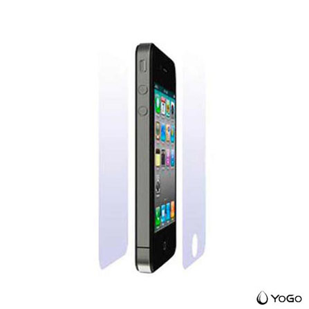 Película Protetora Transparente Frente e Verso para iPhone 4 / 4S - Yogo - 807, Não se aplica