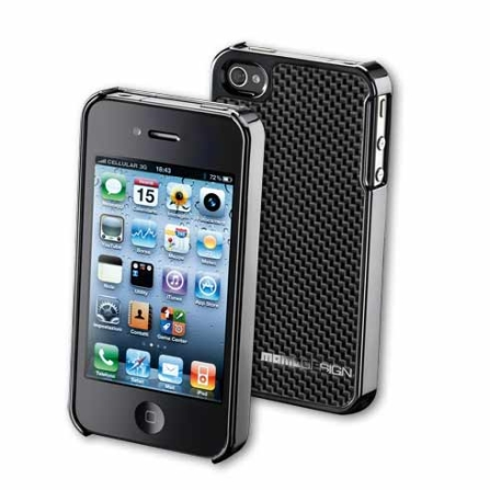 Capa Rígida Cinza para iPhone 4 - Momo Design - CFIPHONE4DG